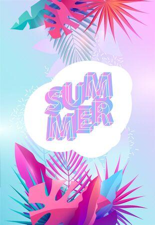 Summer tropical design Stock Illustratie