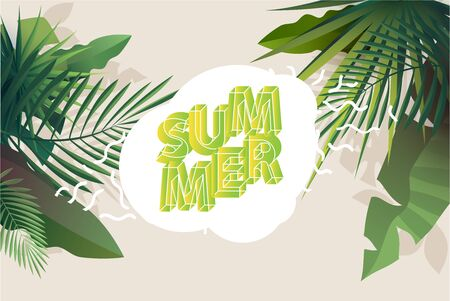 Summer tropical design.