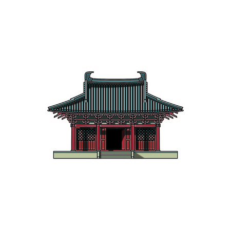Chinese traditional architecture  イラスト・ベクター素材