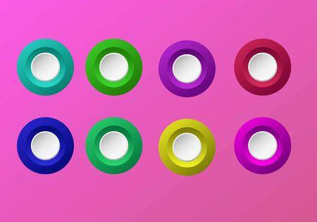 3D Buttons keyword for mobile apps Çizim