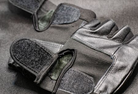 fitness gloves in the background close up