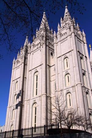 salt lake city: La Gran Catedral de la Magdalena en Salt Lake City Foto de archivo
