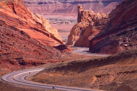 rock formations: The Snack Road Along The Way to Salt Lake City