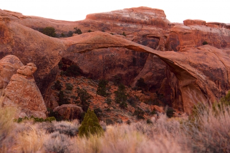 Landscape Arch  Devil s Garden  at Arches National Park, Utah  photo