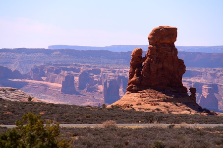 View Point at Arches National Park, Utah photo