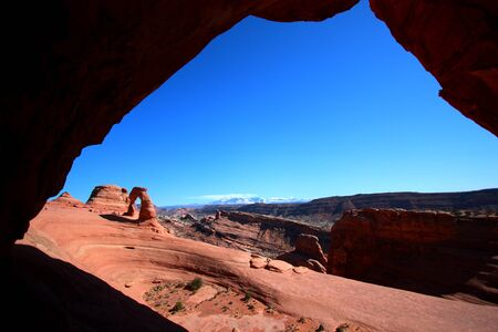 Wide Angle of The Delicate Arch at Arches National Park, Utah photo