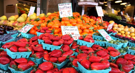 Fresh Fruits at Pike Place Market, Seattle, WA photo