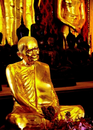 Gold Budda Inside The Temple, Chiang Mai, Thailand photo