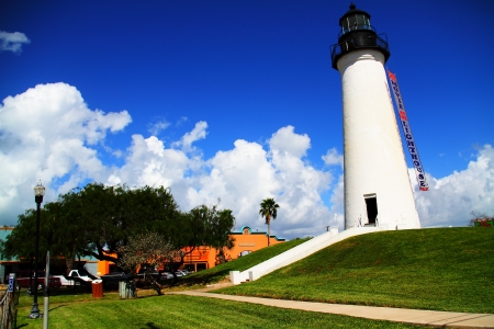 port isabel: Nice Sky in Port Isabel Lighthouse, South Parde Island, Texas