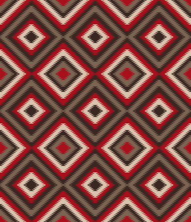 red rug: Ethnic background - Native American style - Illustration Illustration