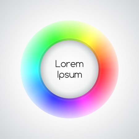 3d rainbow icon Vector