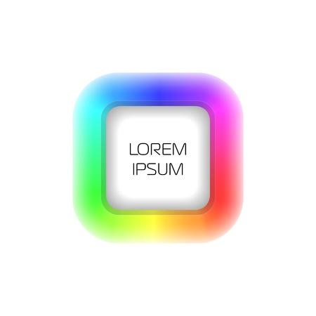 logotypes: 3d rainbow icon Illustration