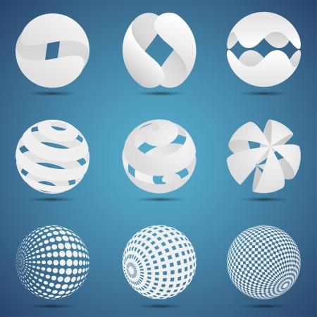 ordinateur logo: Mod�les abstraits � votre propre logo Illustration