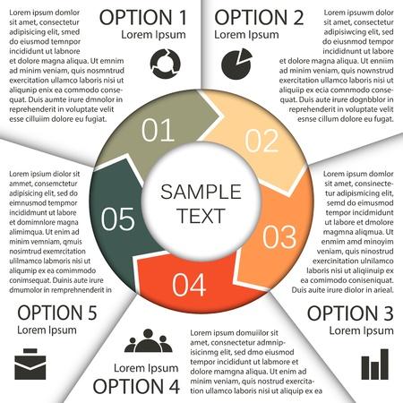 piano di progetto: Modello di progetto di business con le frecce e aree di testo Vettoriali