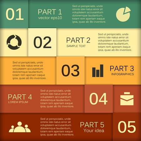 Template for your business presentation Vector