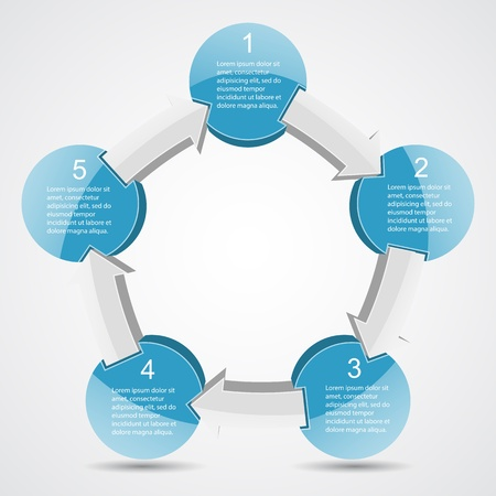 circular arrow: Template for your business presentation  big collection