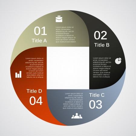 cuatro elementos: Plantilla para su negocio infografía presentación