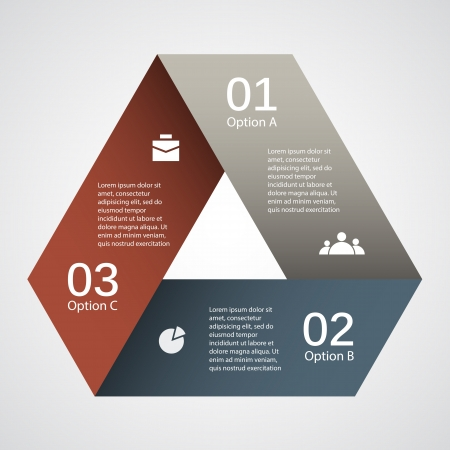 triangle: Template for your business presentation  big collection