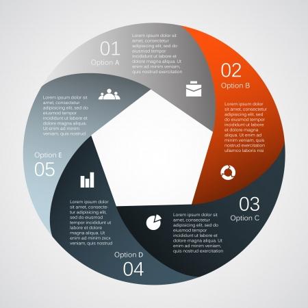 Plantilla para su negocio infografía presentación Ilustración de vector