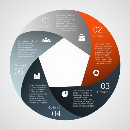 circle chart: Template for your business presentation  infographic