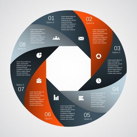 abstracte vormen: Sjabloon voor uw bedrijf presentatie infographic