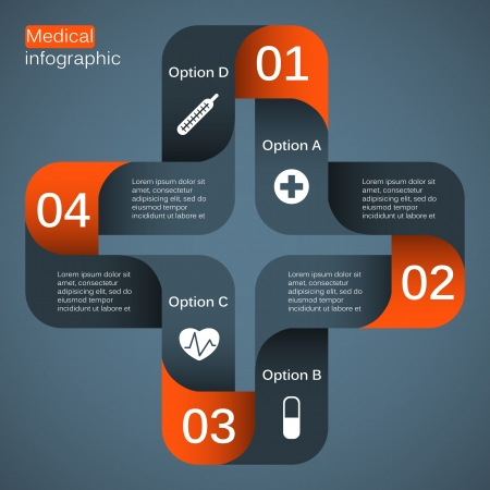 Medical infographic  template for your presentation  Vector