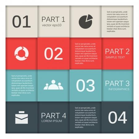 Sjabloon voor uw zakelijke presentatie infographic Stock Illustratie