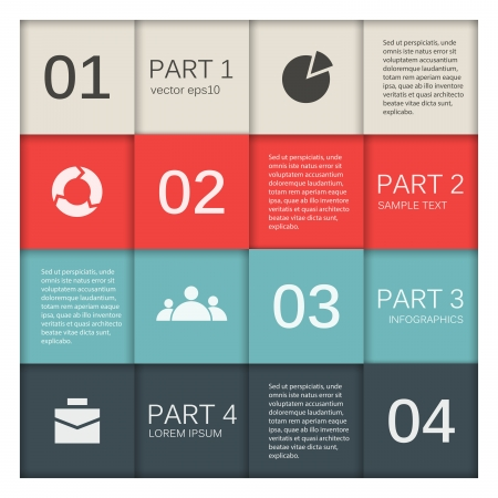 Template for your business presentation  infographic Stock Vector - 20112091