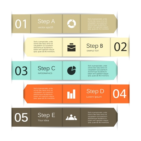 strategy diagram: Template for your business presentation  infographic