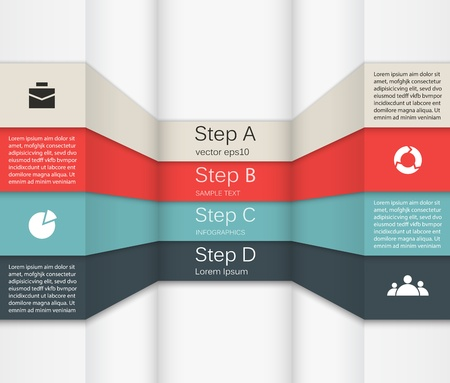 piano di progetto: Template per il vostro business presentazione infografica Vettoriali