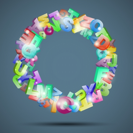 Abstract background with letters Stock Vector - 20112121