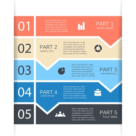 Business project template with arrows and text areas