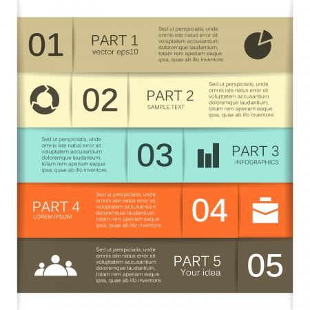 Modern options layout  Can be used for infographic