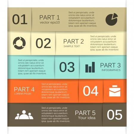 jerarquia: Opciones de dise�o moderno se puede utilizar para la infograf�a Vectores