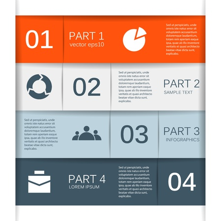 Modern options layout  Can be used for infographic  Stock Vector - 20761847