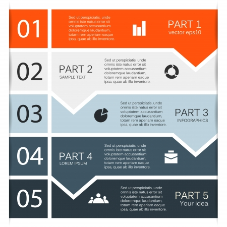 five elements: Modern options layout  Can be used for infographic