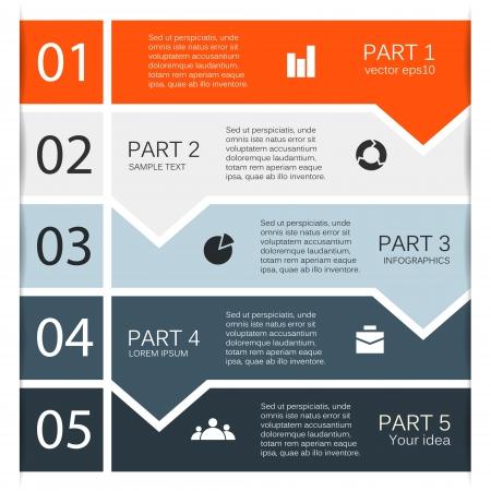 jerarquia: Opciones de diseño moderno se puede utilizar para la infografía Vectores