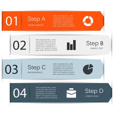 Opciones de dise�o moderno se puede utilizar para la infograf�a Vectores