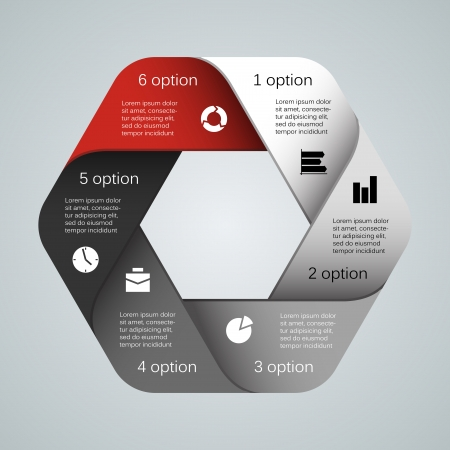 hexagon background: Layout for your options. Can be used for info graphic.
