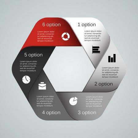 Layout per le vostre opzioni. Può essere utilizzato per le informazioni grafiche. Archivio Fotografico - 23993205