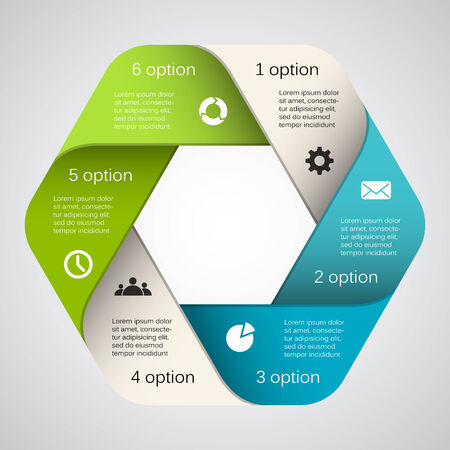 Layout for your options. Can be used for info graphic. Vector