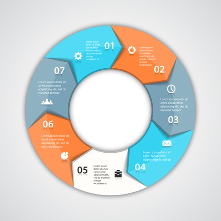 arrow circle: Layout for your options. Can be used for info graphic.