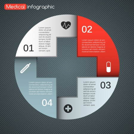 medical icon: Layout for your options. Can be used for info graphic.
