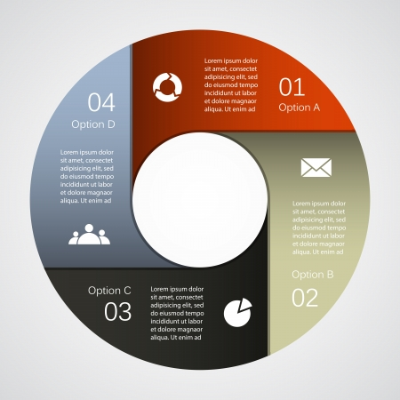 circle diagram: Layout for your options. Can be used for info graphic.