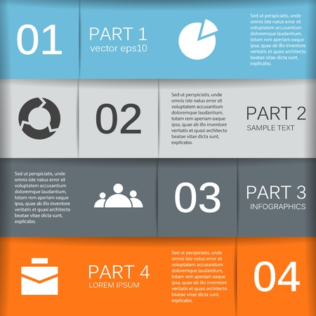research paper: Layout for your options. Can be used for info graphic.