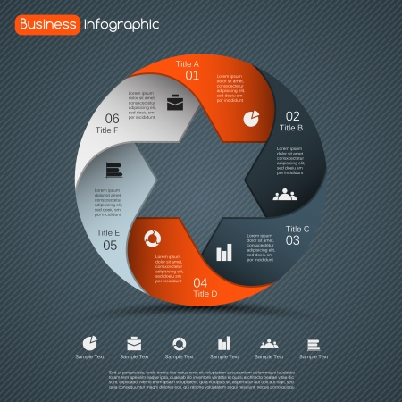 layout design: Layout for your options. Can be used for info graphic.