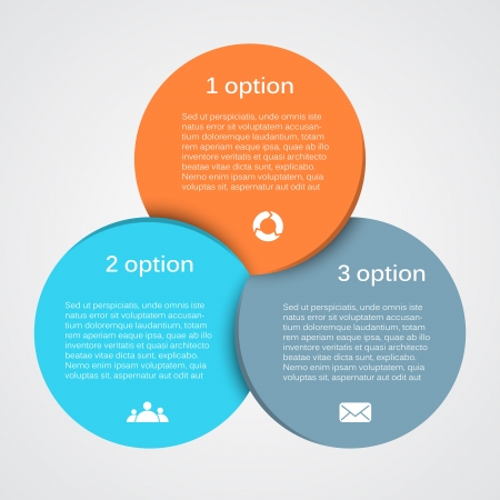 circle arrows: Layout for your options. Can be used for info graphic.