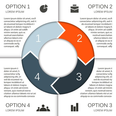 successful strategy: Layout for your options. Can be used for info graphic.