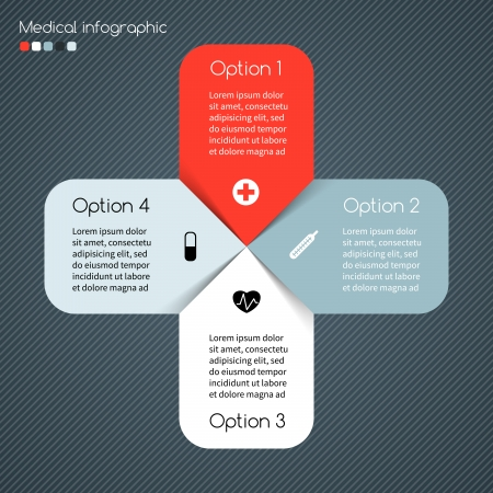 Layout for your options. Can be used for info graphic. Stock Vector - 25124195