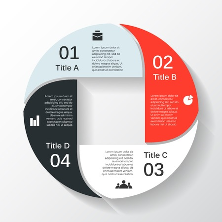circular shape: Layout for your options or steps. Abstract template for background.
